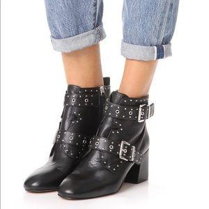 Rebecca Minkoff Logan studded booties size 8